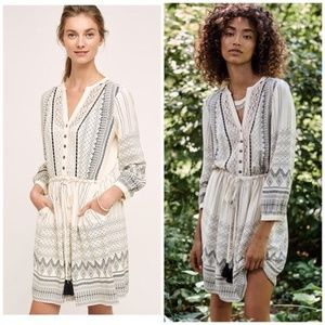 ANTHROPOLOGIE FLOREAT Perrie Lace Peasant Dress